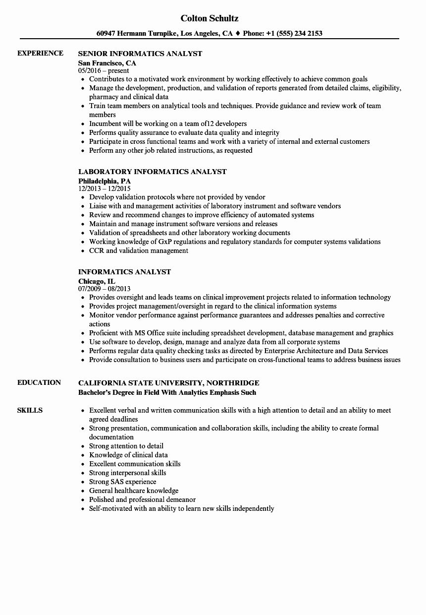 20 Healthcare Data Analyst Resume in 2020 Data analyst