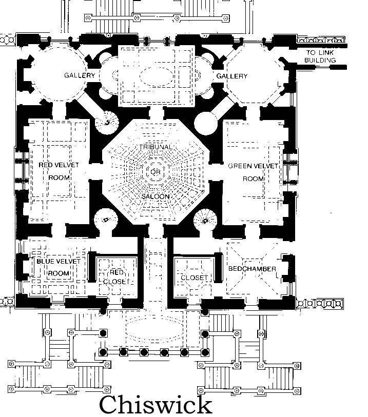 1729 Chiswick House Plan London British Palladian