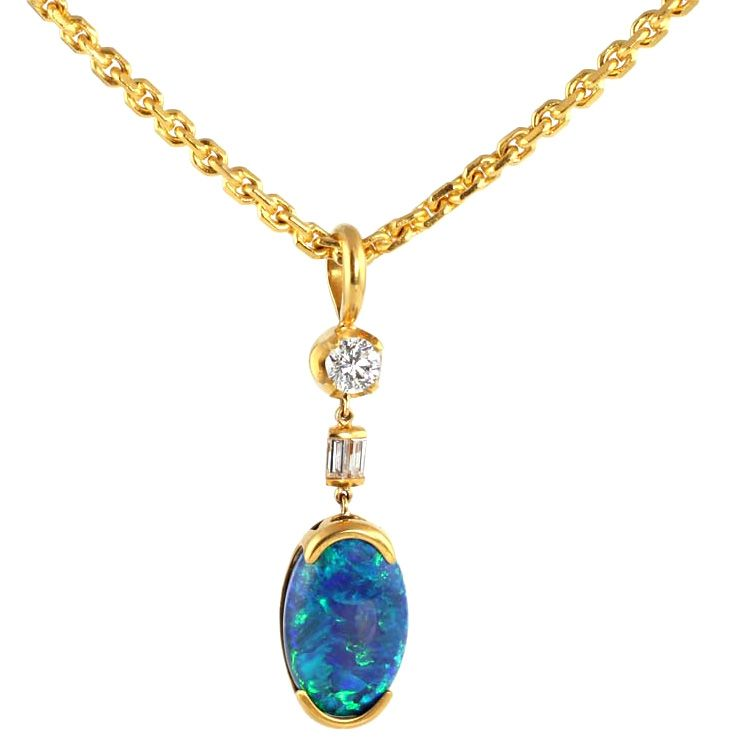 22kt gold diamond and black opal pendant with 22kt gold chain com jewelry watches julius cohen 22kt gold diamond and black opal pendant with 22kt gold chain julius cohen new york mozeypictures Gallery