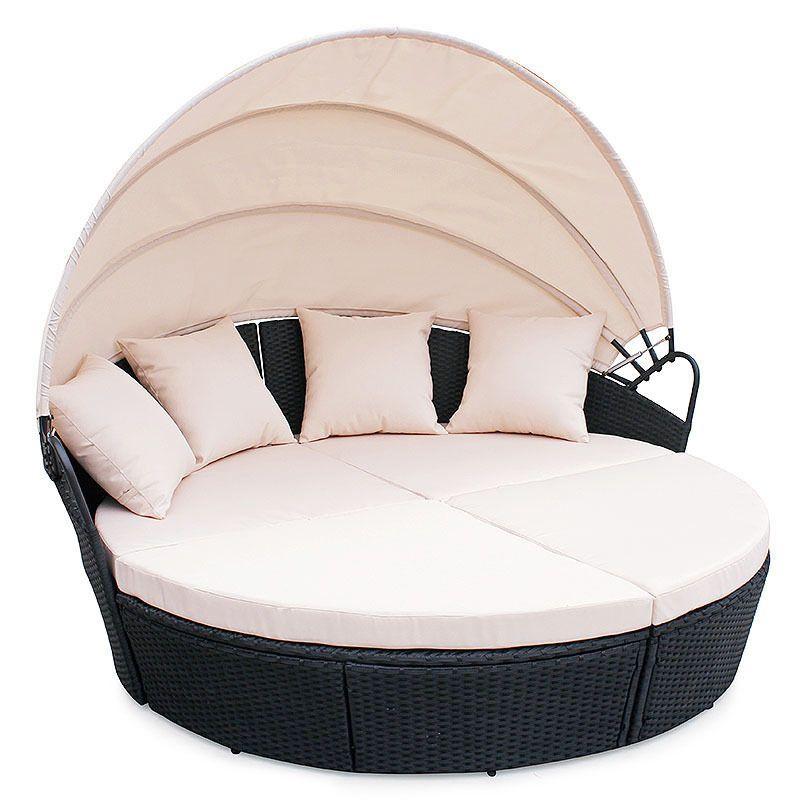 Rattan wohnlandschaft bali  Poly Rattan Furniture Day Bed Bali Outdoor Patio Lounge Sofa Sun ...