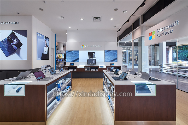 Modern Computer Shop Fittings Laptop Display Counter Custom Retail Display Shop Fittings Store Fixtures Suppliers Shop Fittings Store Design Interior Laptop Display