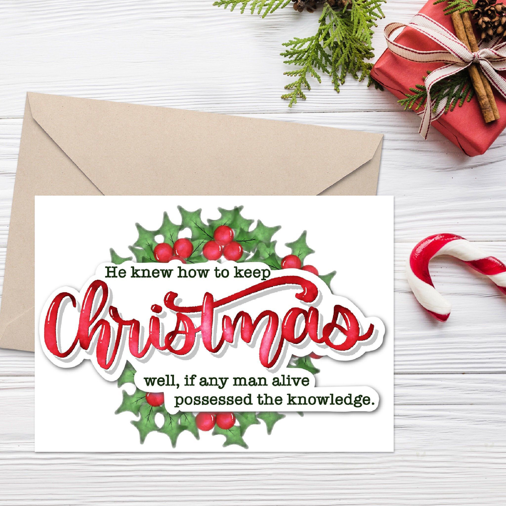 Printable Christmas Card 5x7 Keep Christmas Well Instant Download Pdf In 2020 Christmas Printables Christmas Cards Printable Christmas Cards