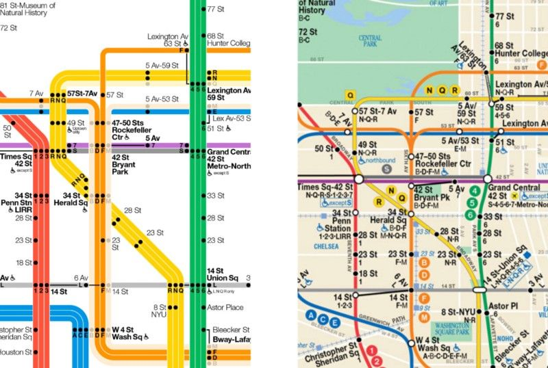 New York Subway Map Redesign.The New York City Subway Map Redesigned Ui Subway Map Map New