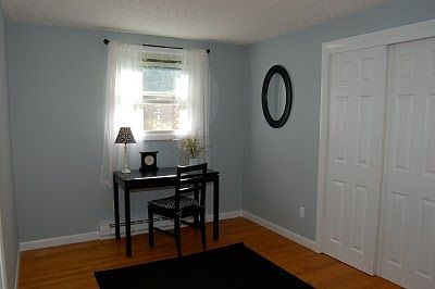 Simple Office; Paint Color: Light French Gray By Behr Pictures