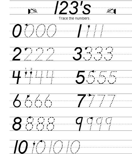 number writing practice 0 10 preschool writing numbers number writing practice handwriting. Black Bedroom Furniture Sets. Home Design Ideas
