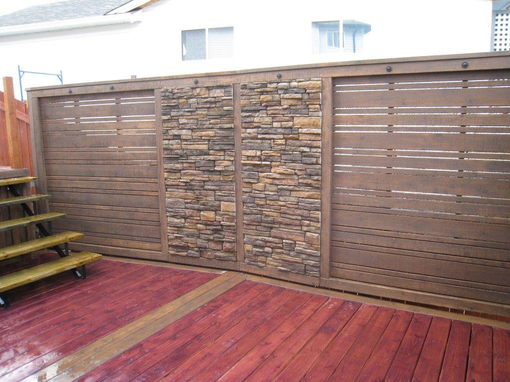 Deck Wall Sound Barrier Backyard Remodel Backyard Patio