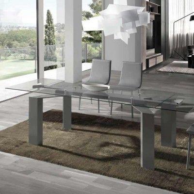 mesa de comedor cristal transparente Mesas de comedor modernas