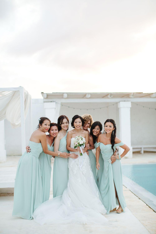 708be652cd9 Seafoam Bridesmaids Dresses in 2019