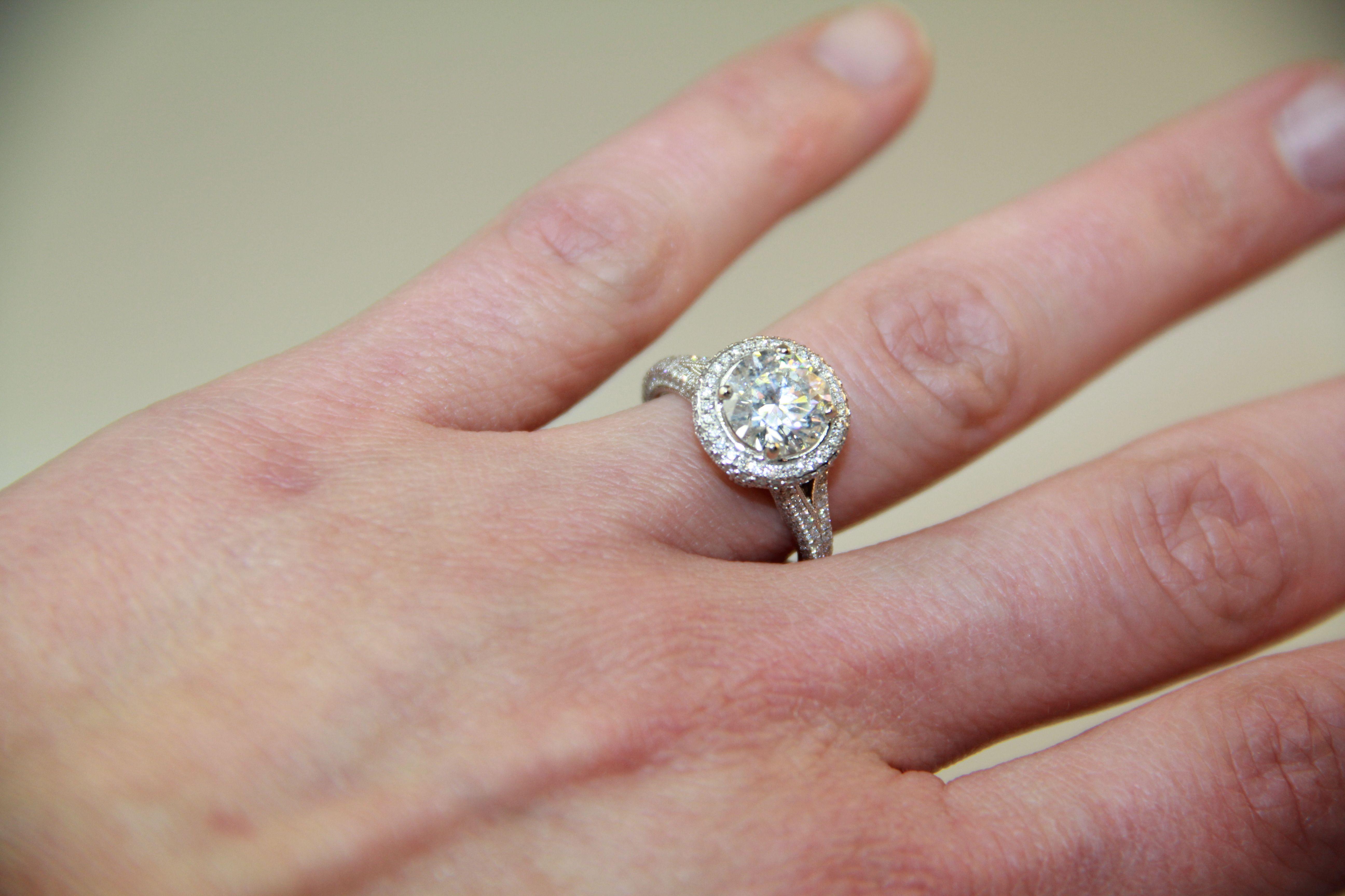 Harrison Co custom diamond engagement ring | Custom Bridal ...