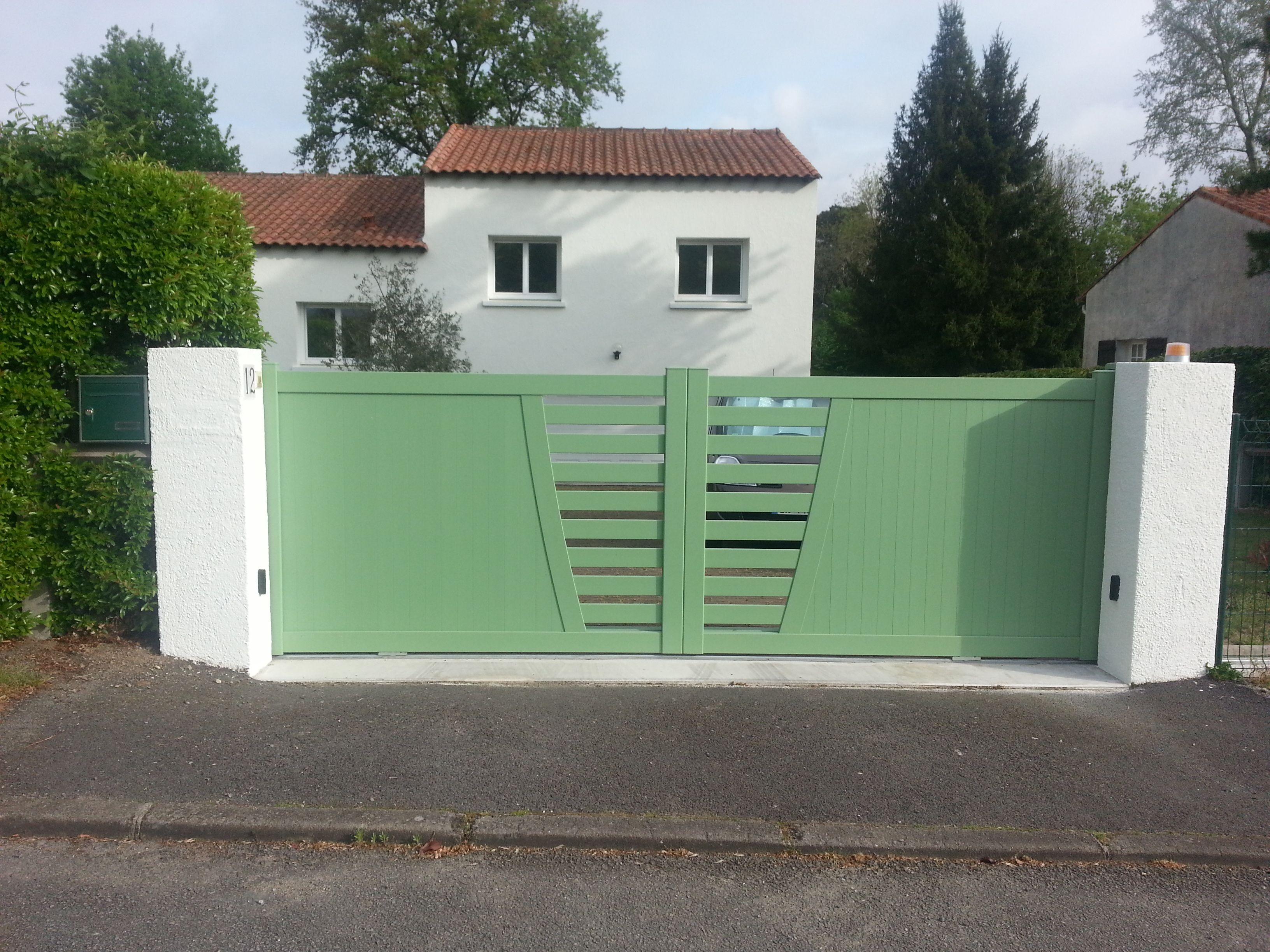portail aluminium semi ajour mod le chaloupe menuiserie portailalu portail pala pinterest. Black Bedroom Furniture Sets. Home Design Ideas