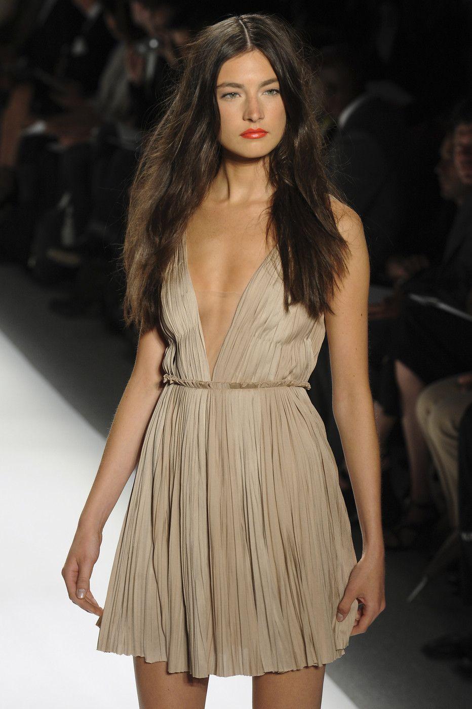 J Jablonski Mendel Spring 2011. hair + dress... wish i had no boobs so i could wear a dress just like this.