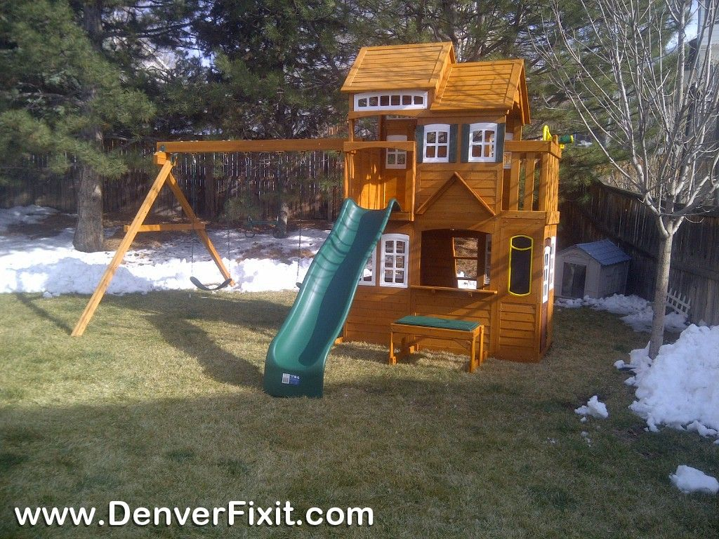 Assembled the costco cedar summit mount forest lodge playset in assembled the costco cedar summit mount forest lodge playset in highlands ranch colorado great publicscrutiny Image collections