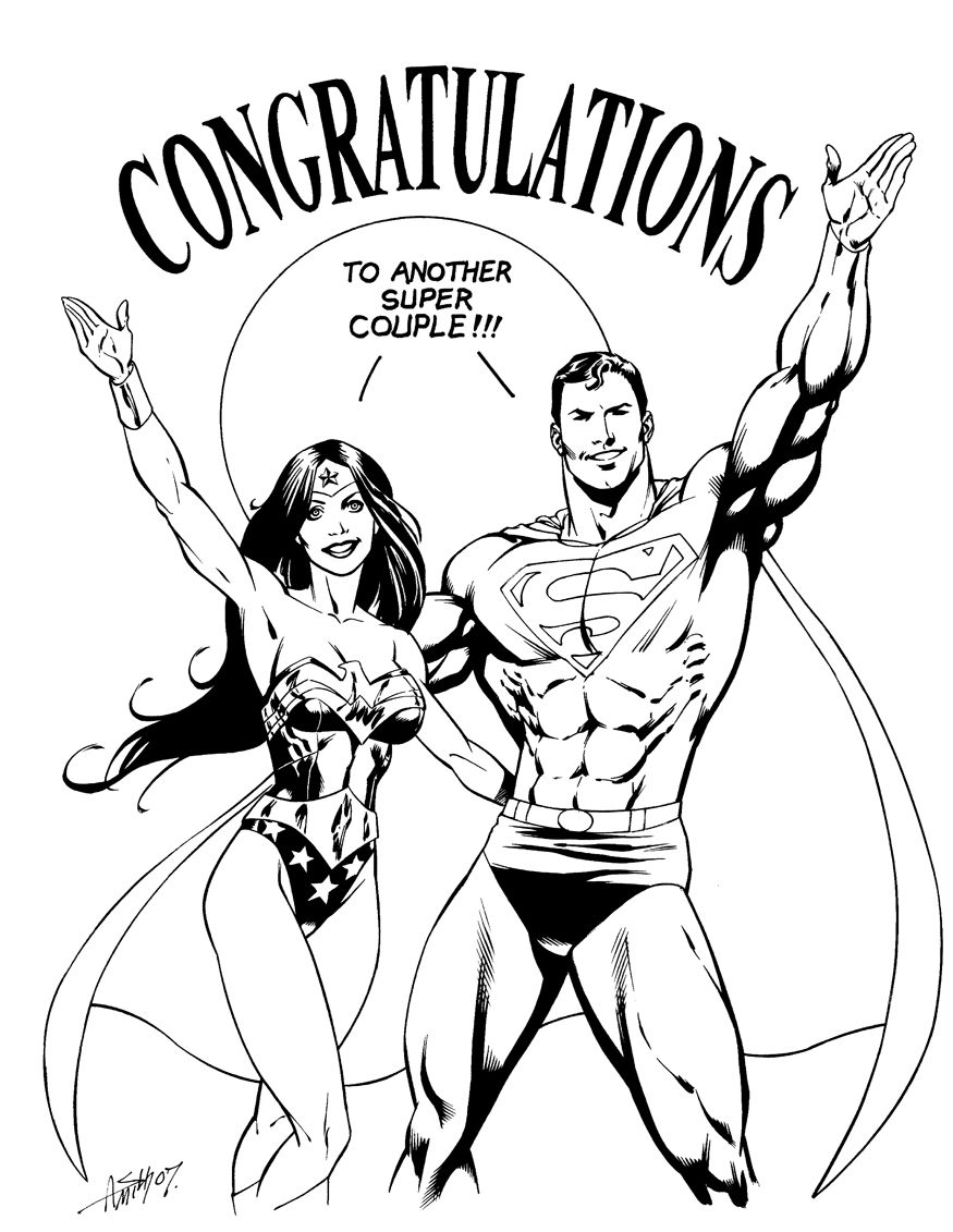 Superman Wonder Woman Tumblr Superman Wonder Woman Wedding Drawing Wonder Woman Statue