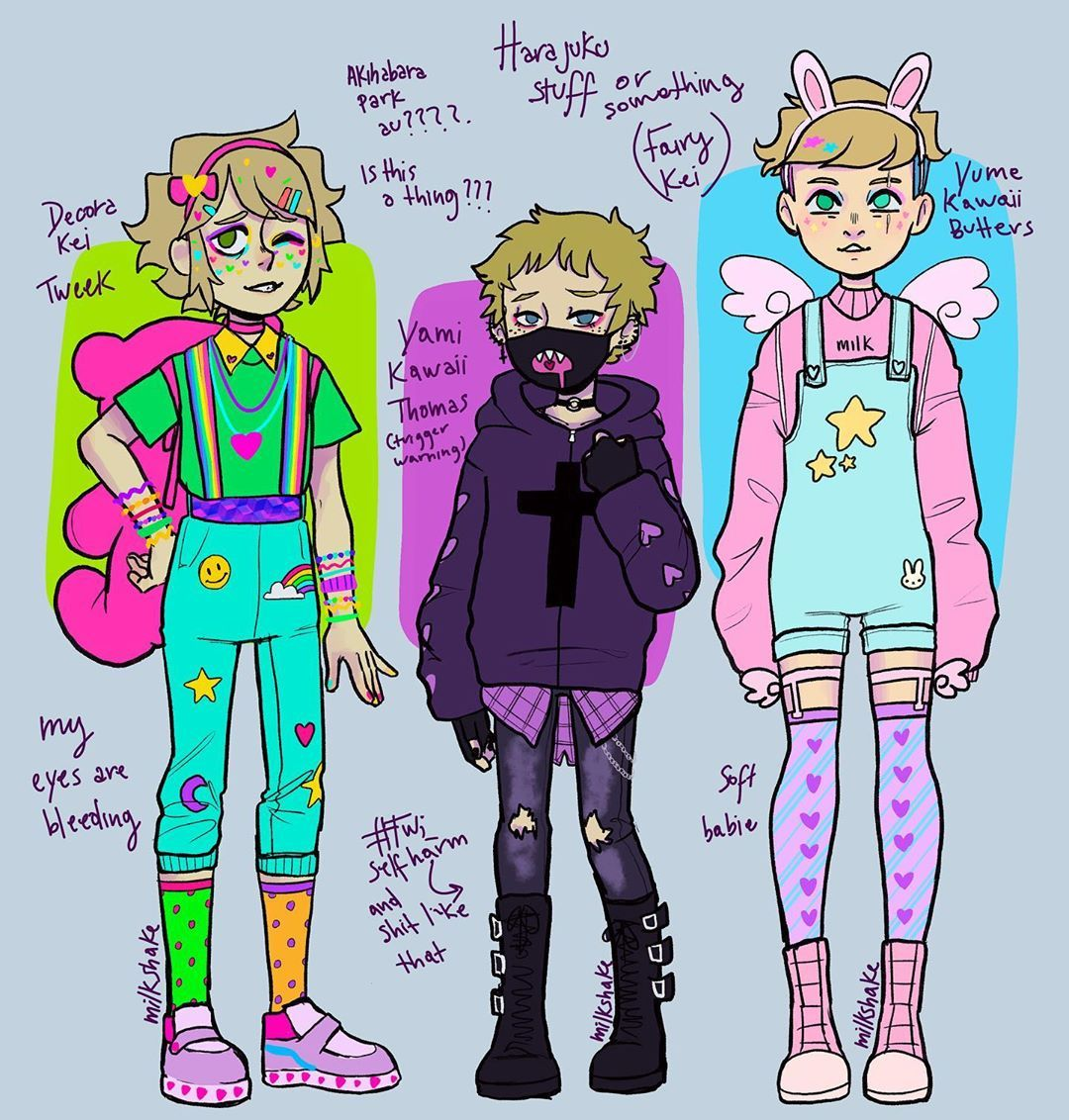 Milkshake On Instagram Dont Pay Attention To This Also Be Careful If You Google Yami Kawaii Eeeee I Just Wanted To Draw Some In 2020 Kawaii Drawings Kawaii Clothes
