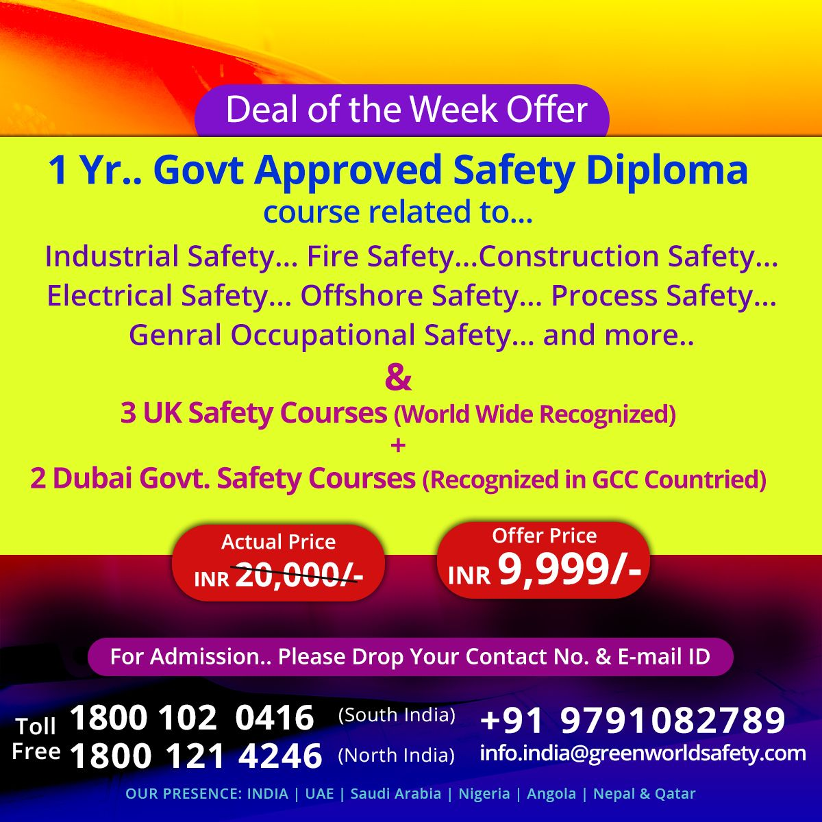 Safety Courses in India Safety courses, Diploma courses