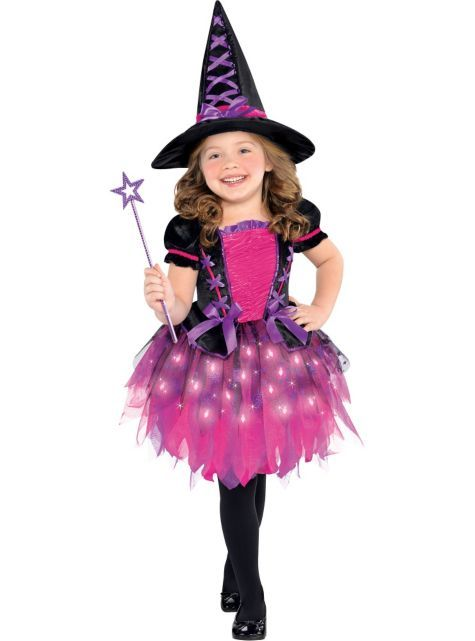 Toddler Girls Light-Up Sparkle Witch Costume - Party City | Stuff ...