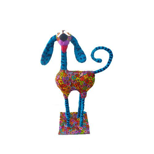 Dog sculpture  whimsical dog animal Collectibles  dog by MIRAKRIS, $150.00