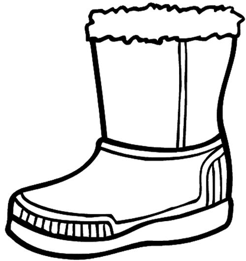 Winter Boots Large Coloring Page  Coloring pages, Coloring pages