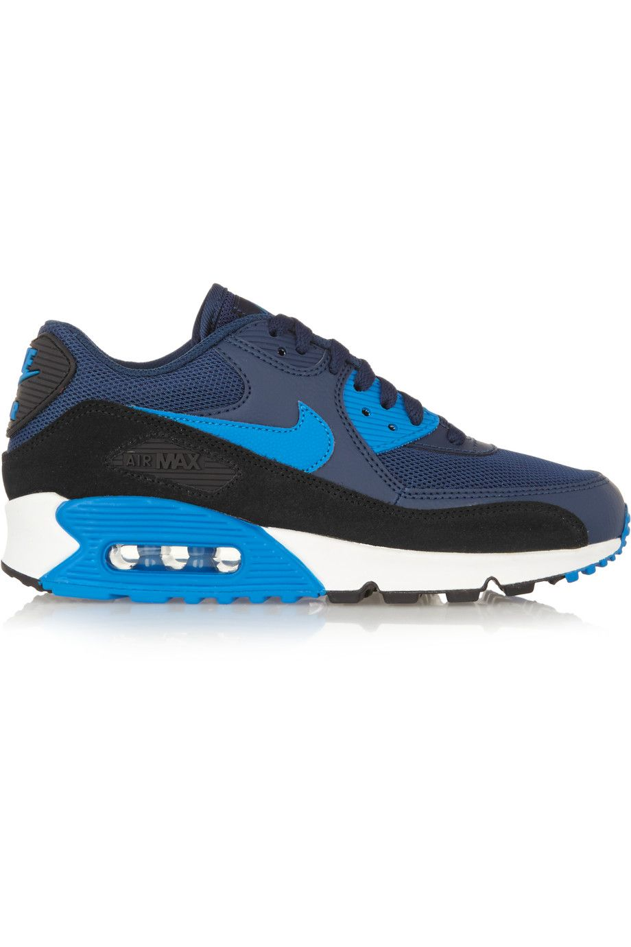 nike air max 90 essential leather mesh rubber and suede sneakers. nike shoes sneakers