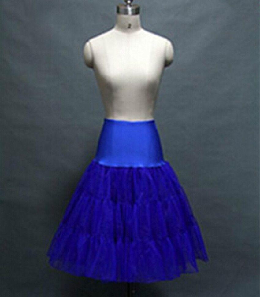 Short Yellow or Blue Petticoats for Wedding Dress Crinoline jupon