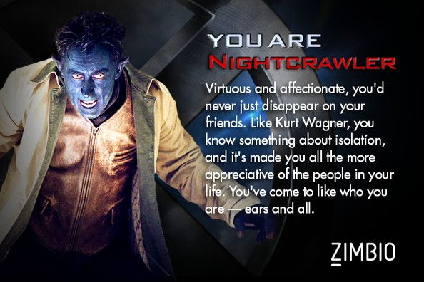 Which X Men Character Are You X Men Funny Nightcrawler X Men