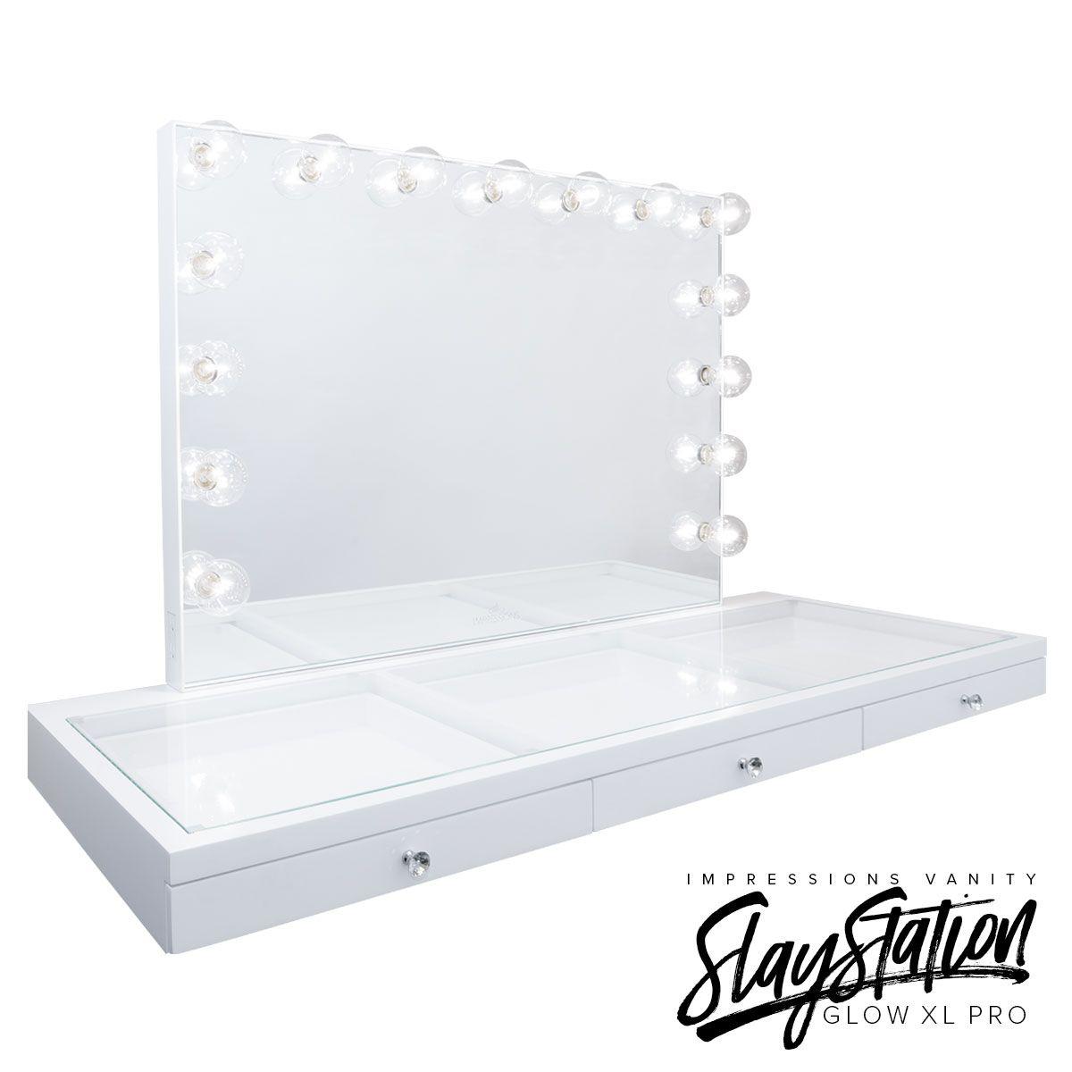 Slaystation pro premium table glow pro vanity mirror bundle in