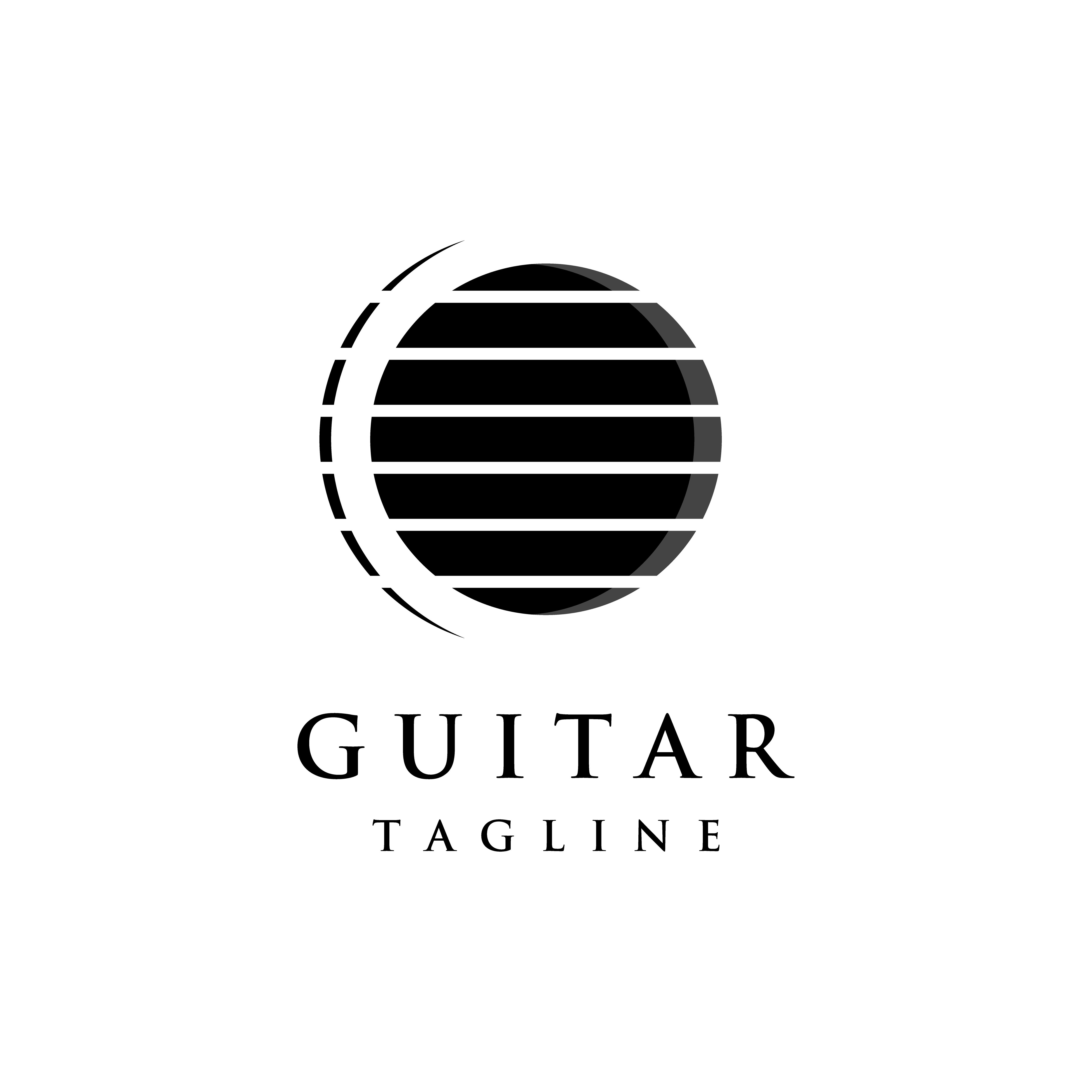 Luxury abstract logo symbol for guitar classic by linimasa ...