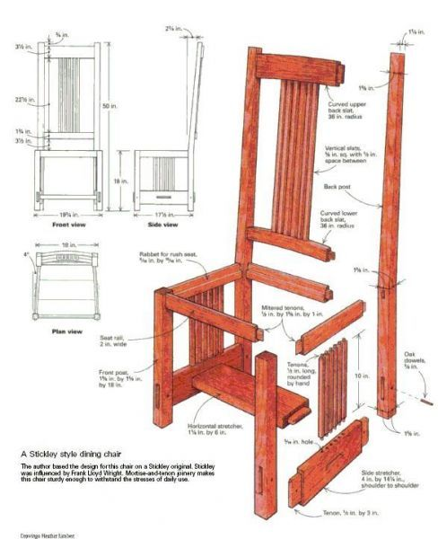 Terrific Arts And Crafts Dining Chair Startwoodworking Com Dailytribune Chair Design For Home Dailytribuneorg