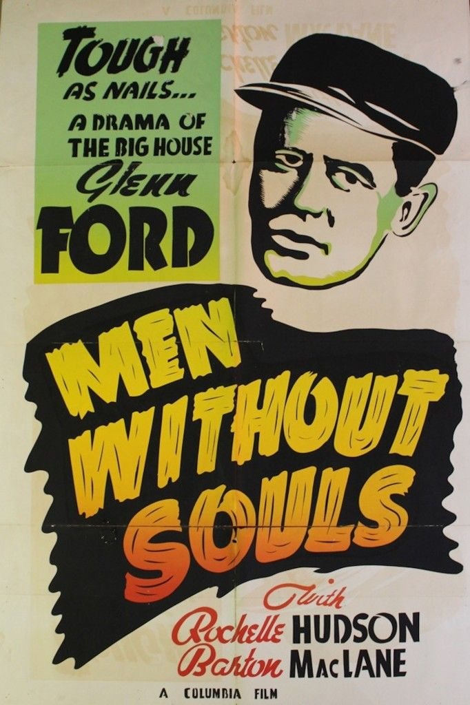 """Renew Gallery   """"Men Without Souls"""" Movie Poster"""