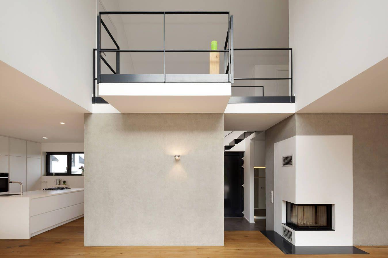 galerie wohnzimmer kamin haus f h moderne wohnzimmer von schamp schmal er modern living. Black Bedroom Furniture Sets. Home Design Ideas