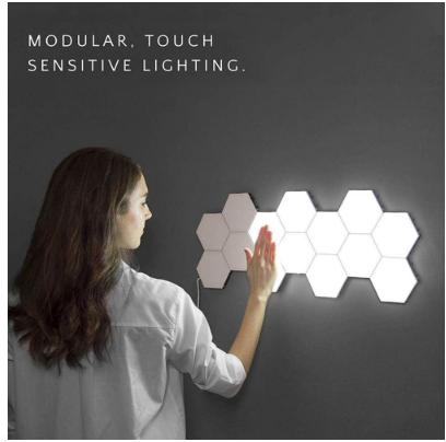 Photo of Hexagonal Lamps Modular Touch Sensitive Lighting – 4000K / 5pcs EU Plug