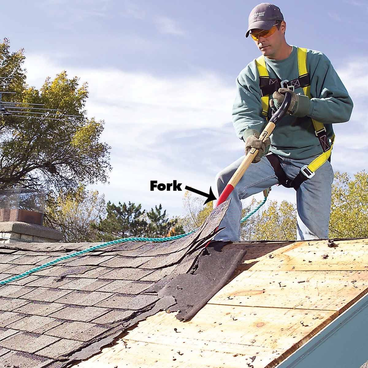 Roof Removal How To Tear Off Roof Shingles Roof Repair Roof Shingles Roof Cost