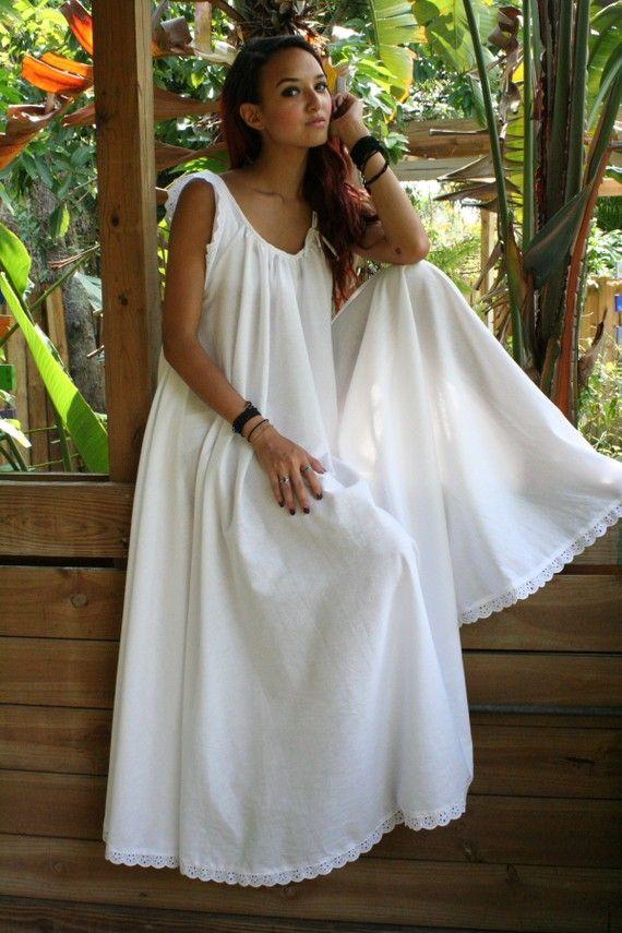 White Cotton Full Swing Bridal Wedding Lingerie Romance Honeymoon ...
