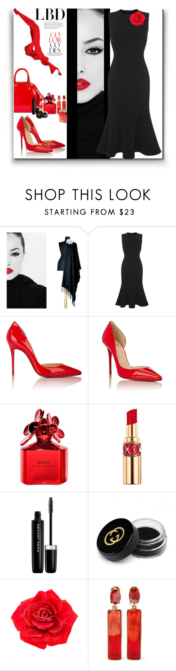 """LBD"" by marionmeyer ❤ liked on Polyvore featuring Dolce&Gabbana, Christian Louboutin, Marc Jacobs, Yves Saint Laurent, Gucci, Johnny Loves Rosie, Oscar de la Renta and LBD"