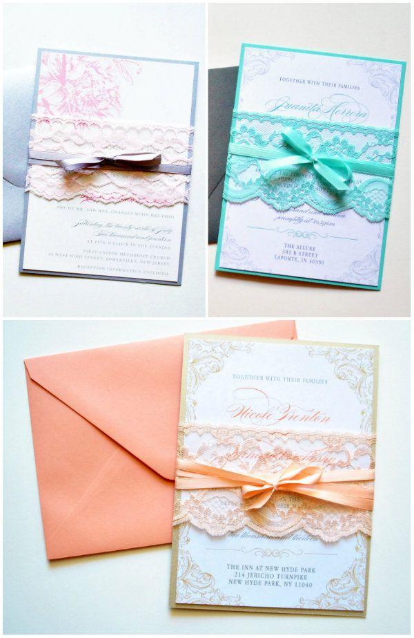 Schön DIY Vintage Spitze Einladungskarten Für Hochzeit | Hochzeitsblog  Optimalkarten