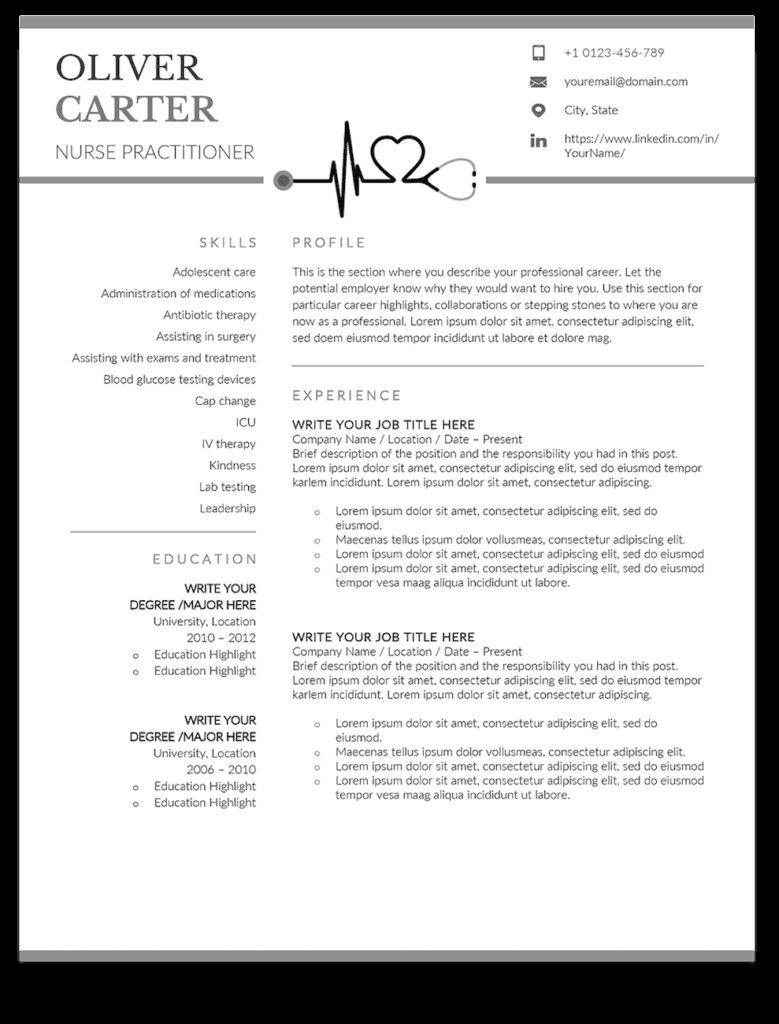 32 Awesome Entry Level Nurse Practitioner Resume In 2020 Nursing