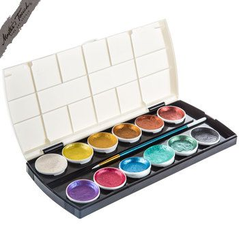 Metallic Semi Color Cake Paint Set Paint Set Painted Cakes