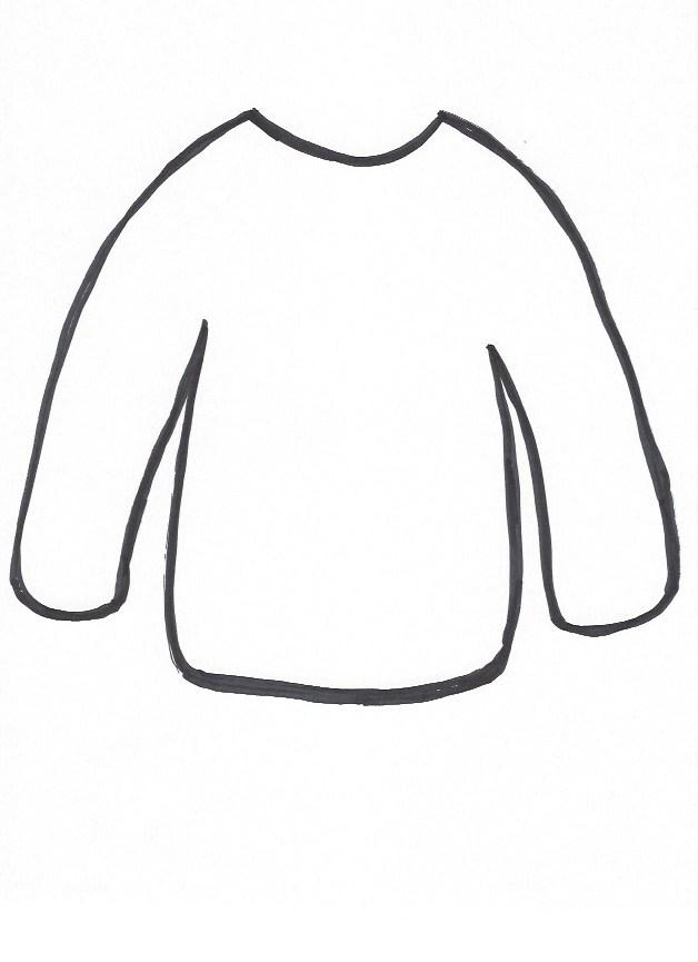 Sweater-template.png 628×865 pixels | Preschool | Pinterest | School ...