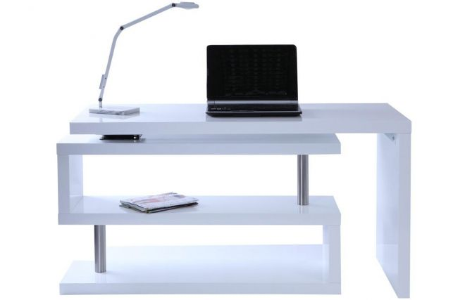bureau design blanc laque amovible max zoom