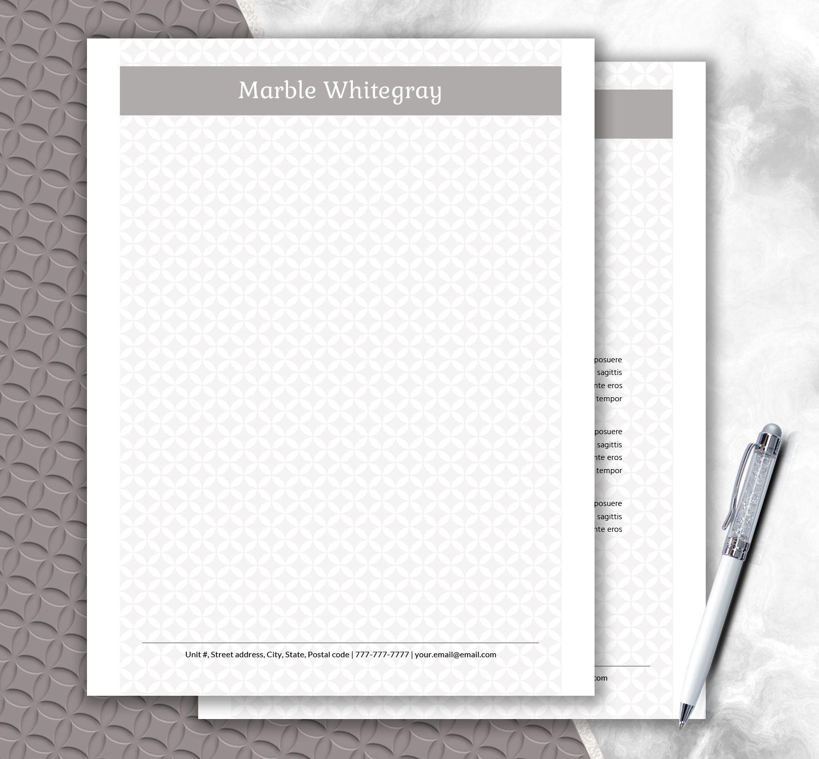 fashionable stationery personalized letterhead by documentfolder