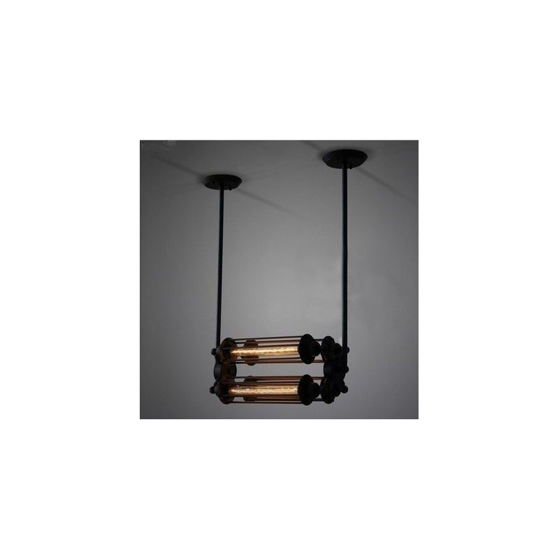 Pendant lamp Industrial Vintage Edison 4 tube filament bulbs pendant lamp by Dezignlover - Premium quality replica -Free shi