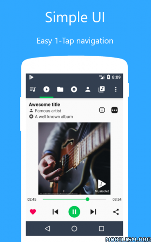 Musicolet – Music Player v2 0Requirements: 2 3+Overview: Musicolet