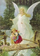 Guardian Angel My Nana Had A Painting Of This On Porcelain In An