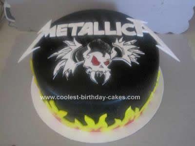 Coolest Metallica Cake Design Husband tattoo Metallica and Cake