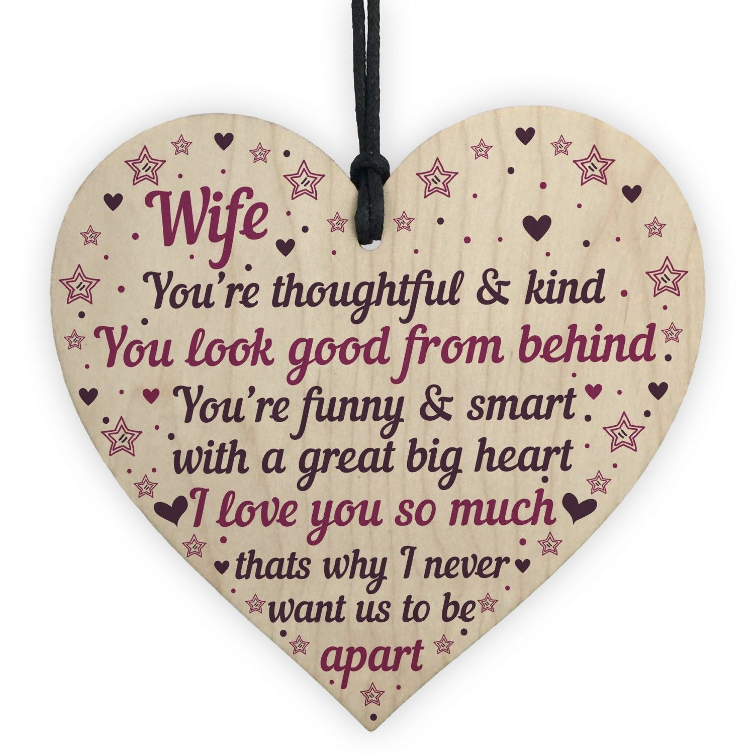 Anniversary birthday card cards gift heart wife