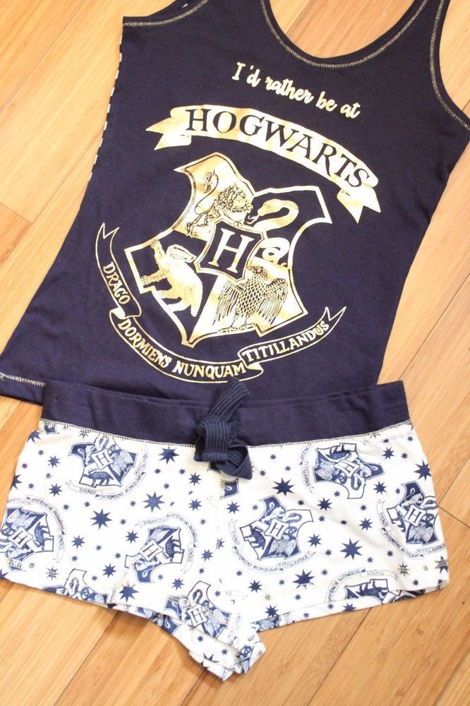 HARRY POTTER Ladies Pyjamas Primark HOGWARTS LETTER Vest Shorts Womens  Pajamas 234ba1a6f