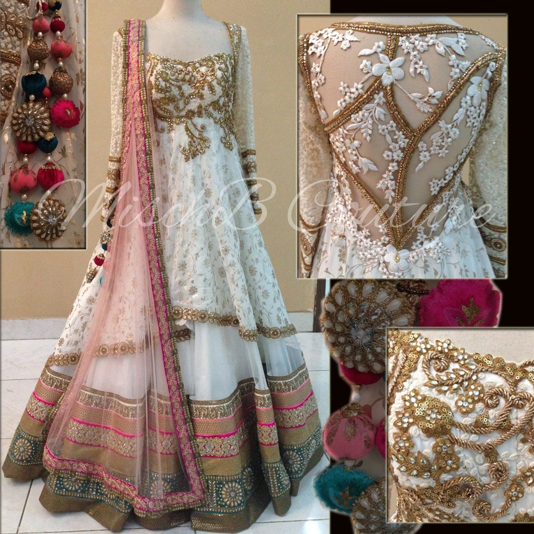 South asian wedding dresses  Anarkali by MischB Couture  Bridal  Pinterest  Anarkali Couture