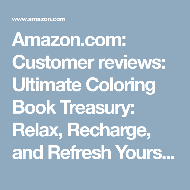 Amazon.com: Customer reviews: Ultimate Coloring Book