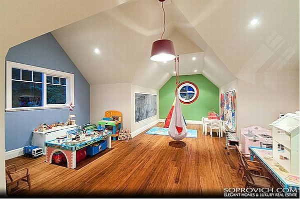 High Quality A Colourful Playroom Organized In The Attic Seems Like A Good Idea And You  Can Use Great Ideas