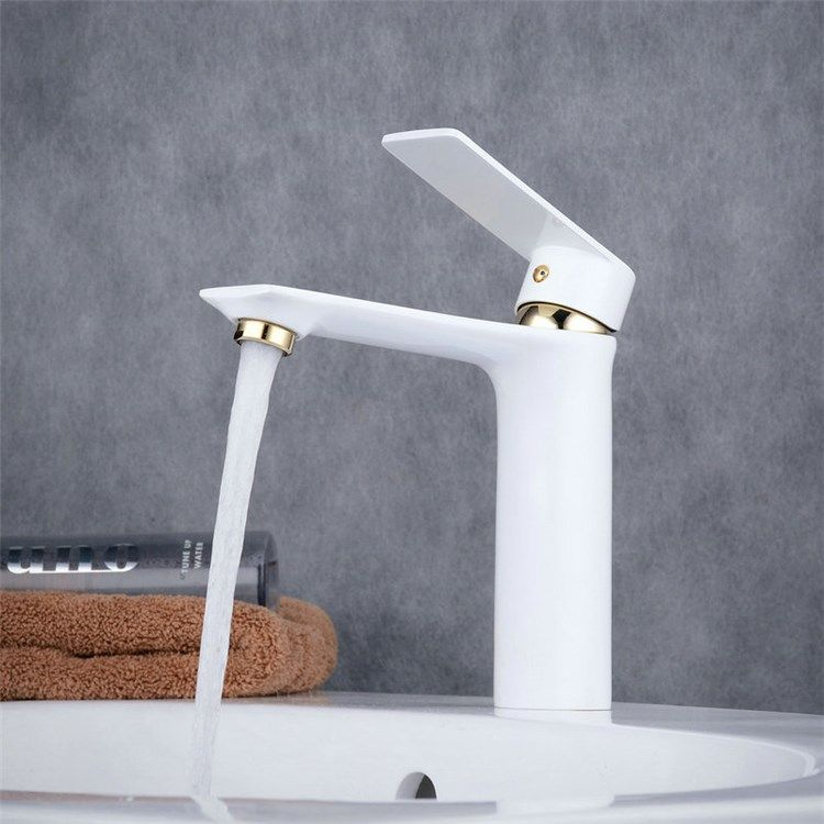 洗面水栓 バス蛇口 冷熱混合栓 立水栓 水道蛇口 手洗器水栓 白色 金色